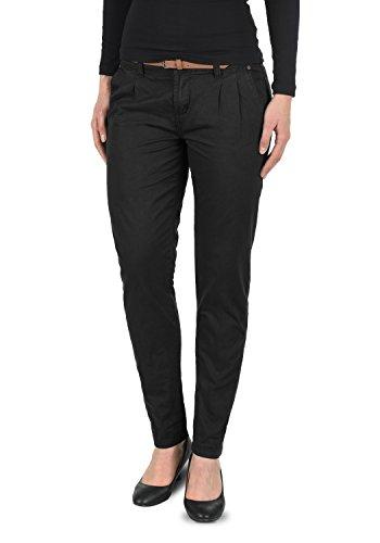 DESIRES Jacqueline Damen Chino-Hose lange Hose Business Casual aus 100% Baumwolle, Größe:40, Farbe:Black (9000)