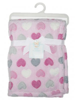Luxe doux Couverture Cœur Rose pour bébé fille
