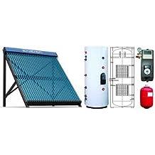 Calentador solar de agua forzado, para agua caliente y calefacción, depósito de 200 L