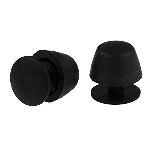 maDDma  10 Taschenfüße-Standfüße 19mm schwarz Kunststoff für Taschen Rucksäcke Koffer
