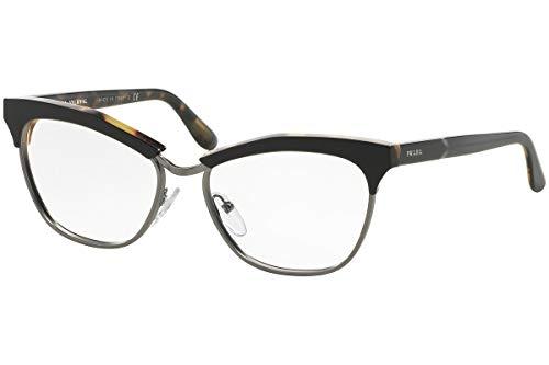 Prada Für Frau 14s Black / Medium Tortoise Kunststoffgestell Brillen, 55mm