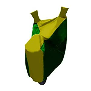 Water Proof Bike Body Cover for All Two Wheelers Universal Bike Cover (with Mirror Pockets) (Gold & Green)