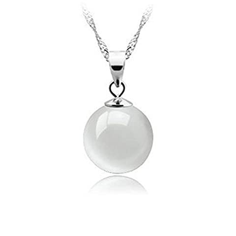 925Silver Necklace with Opalite Moonstone