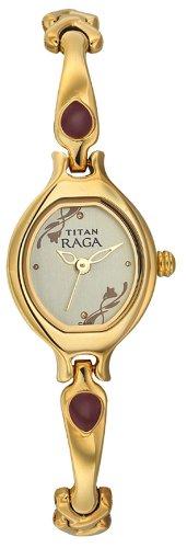 31t953R5uWL - Titan NE2387YM06 Raga Champagne Women watch