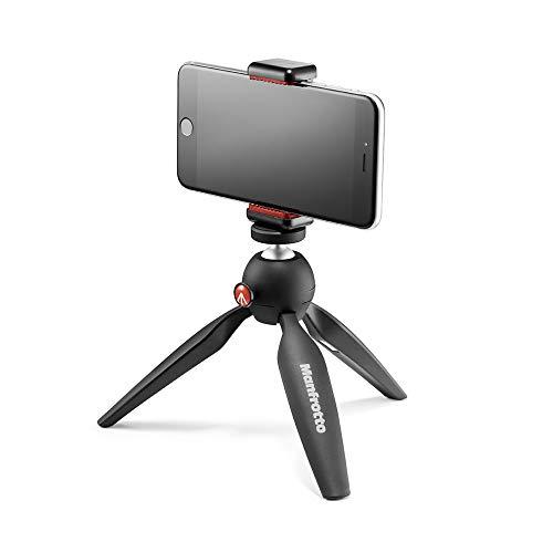 Manfrotto Mini Stativ (mit Universal Smartphone Klemme), schwarz