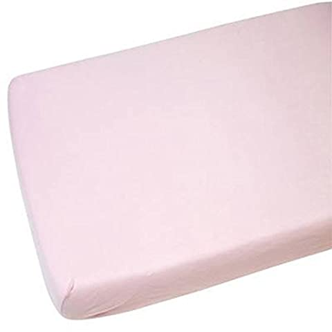 Double Pink Jersey Stretchable Fitted Sheet 100% Cotton Super Soft All UK Sizes White, Cream,Navy,Blue,Pink,Lilac,Yellow,Single,Double,King,Small Double,Bunk,King,Super King, (Double, Pink)