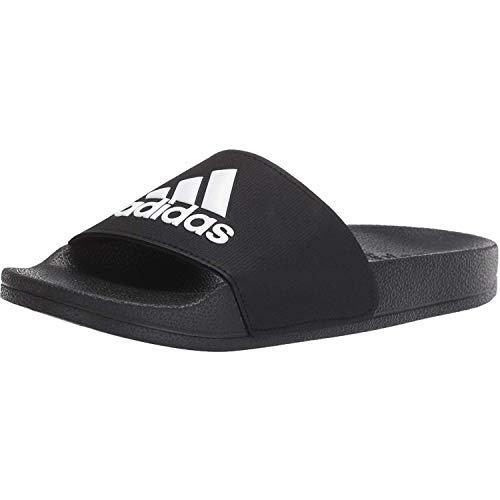 Adidas Schwarz Folien (adidas Unisex-Kinder Adilette Shower K Fitnessschuhe, Schwarz Ftwbla/Negbás 000, 36 2/3 EU)