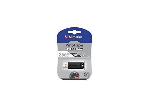 VERBATIM PINSTRIPE USB Stick 256GB 3.0 schwarz