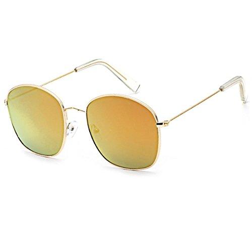 Ansenesna 2018 Pilotenbrille Sonnenbrille Herren Damen Transparent Brille Auto Treiber Anti-Reflection Nachtsichtbrille Fahrbrille (Rot)