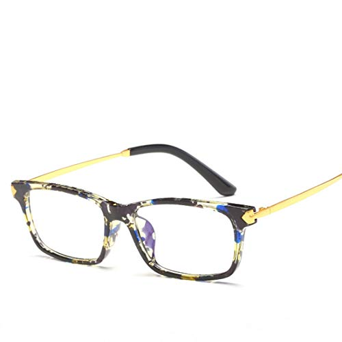 Mkulxina Unisex-Brillengestell Nicht verschreibungspflichtige Brillen Männer, Frauen (Color : Multi-Colored)