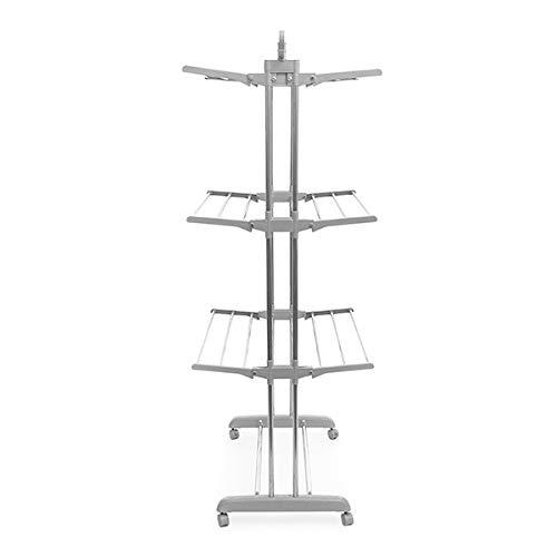 Etendoir - Séchoir A Linge - Tancarville - Très Grande Capacité 170 CM X 75 CM - 3 Niveaux - Rangement Facile - Sur Roulettes - Déplacement Facile - Sans Entretien