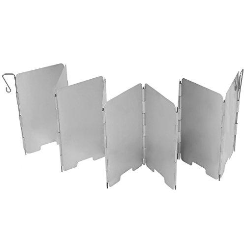 Uni Coco Outdoor Camping Plegable de Aluminio-Paravientos para hornillo de Gas con láminas de 9de Ultra