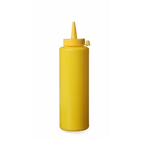 Hendi 557907 Spenderflasche für Saucen, 0,70 L, Polypropylen, Gelb
