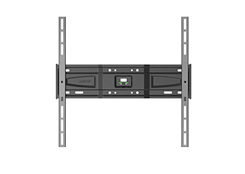 Meliconi slimstyle plus 400 s, supporto fisso ultra sottile da parete per tv a schermo piatto da 40'' a 82'', con gommini protettivi, vesa 200x200, 300x300,400x400, nero