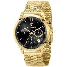 Maserati ricordo Reloj para Hombre Analógico de Cuarzo con Brazalete de Acero Inoxidable bañado en Oro R8873633003