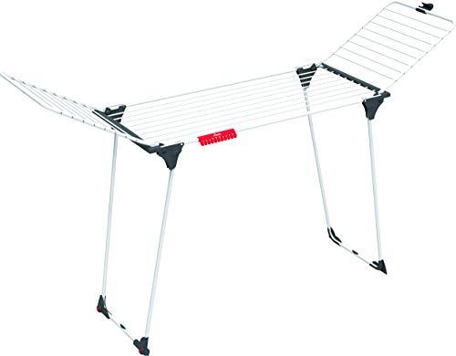 Vileda Magnum Flügelwäscheständer, XXL-Wäscheständer mit 24 m Trockenlänge und Rädern