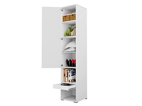 Mirjan24  Schlafzimmer-Set Concept Pro I Vertical, Wandklappbett und 2 Regale, Wandbett mit Lattenrost, Bettschrank, Klappbett, Funktionsbett (Weiß, CP-01 (140×200)) - 4