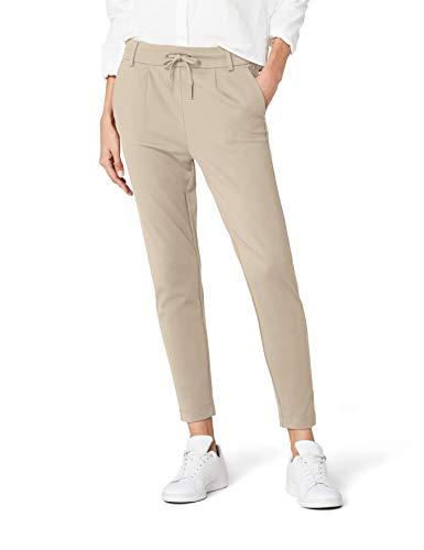 ONLY ONLY Damen Hose Onlpoptrash Easy Colour Pant Pnt Noos, Beige (Peyote), W34L32 (Herstellergröße: XS)