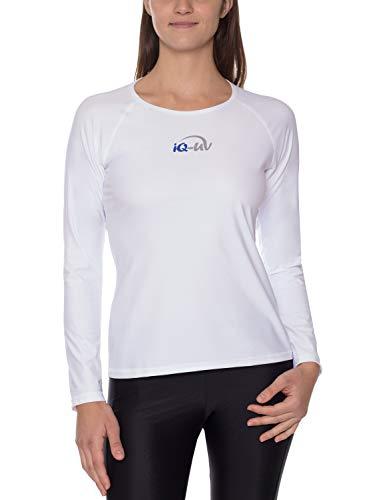 IQ UV Schutz Shirt Damen Leger Langarm Strand Wandern, aus recycelten Fischernetzen, hergestellt in Europa -
