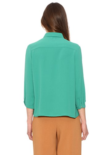 Pepa Loves 107556 - Chemisier - Taille normale - Manches 3/4 - Femme Vert (Green)