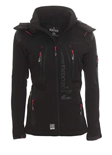 Geographical Norway Damen Softshell Funktions Outdoor Regen Jacke Sport [GeNo-20-Schwarz-Gr.S]