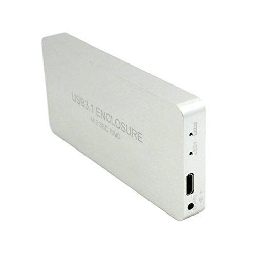 Preisvergleich Produktbild Goliton® USB3.1 Typ-C NGFF (M2) externes Anschlusskasten Typ-C Schnittstelle zu M.2 SSD RAID Festplattengehäuse - Weiß