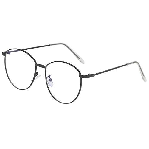 fazry Damen Herren Mode Persönlichkeit Unregelmäßige Form Metall Rahmen Sonnenbrille Vintage Punk Style Brille(A)