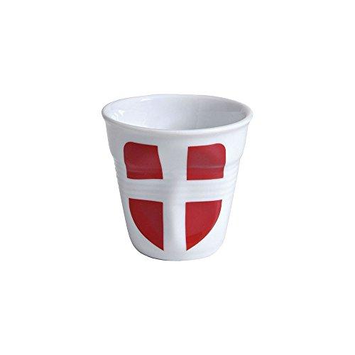 6 tasses froissées expresso drapeau de Savoie Revol 8 cl