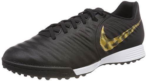Nike Herren LegendX 7 Academy TF Fußballschuhe, Schwarz (Black/MTLC Vivid Gold 077), 42.5 EU -