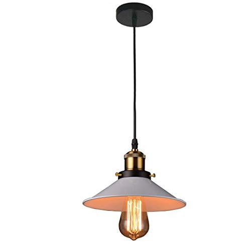 Industrielle Retro Pendelleuchte Esstisch LED Kronleuchter Höhenverstellbar Vintage Loft Hängelampe E27 Leuchtmittel für Kücheninsel, Wohnzimmer, Schlafzimmer Restaurant, Bar,Weiß