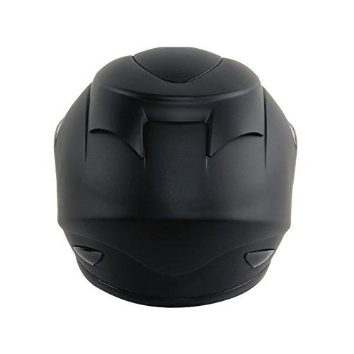 Yorbay Motorradhelm Integralhelm Sturzhelm Helm mit verschienden Typen & in unterschiedlichen Größen (Schwarz matt, M) - 4