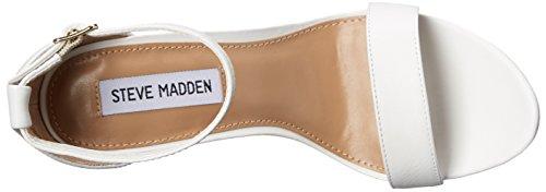 Steve Madden Carrson Kleid Sandale Weiß, Leder