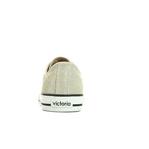 Victoria Basket Lurex autoclave, Sneaker Unisex – Adulto Doré