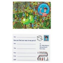 wheres-wally-post-card-style-party-invitations-8-invites-and-envelopes