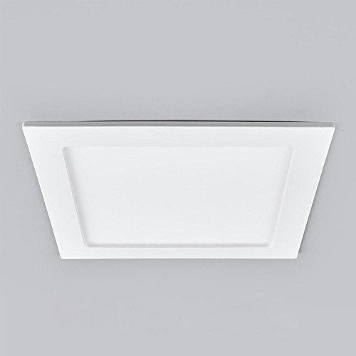 Led deckenlampe bad eckig deckenleuchte badezimmer k che for Led deckenlampe eckig