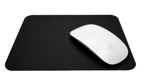 bd@ ultradünn Silikon Mousepad, Silicon Pad, schwarz, für optische Maus, Lasermaus, Spielmaus, Mauspad