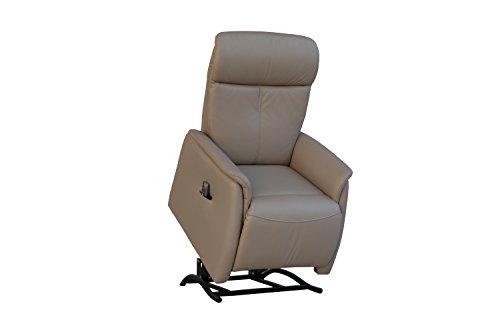Fernsehsessel Echtleder TV Sessel mit Aufstehhilfe 2 Motoren - 3