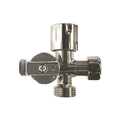 Disflex - Robinet d'arrêt WC 3 voies vertical laiton spécial douchette WC bidet