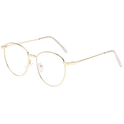 fazry Damen Herren Mode Persönlichkeit Unregelmäßige Form Metall Rahmen Sonnenbrille Vintage Punk Style Brille(G)