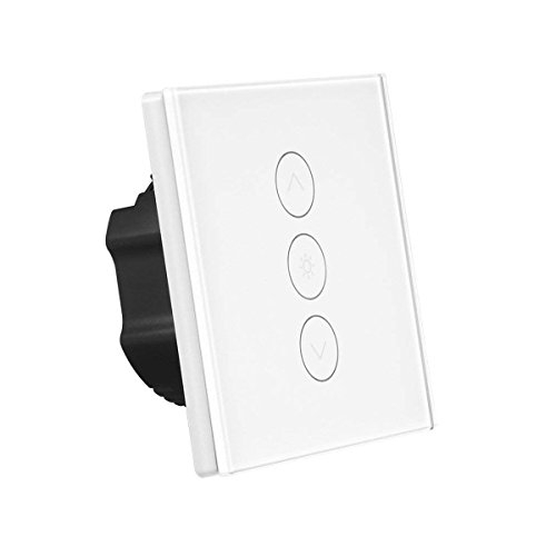 Interrupteur gradateur intelligent Interrupteur de lumière murale sans contact tactile de travail avec Alexa / Google Accueil / IFTTT 1 Gang APP Télécommande,(Ligne neutre requise) (1 PCS)