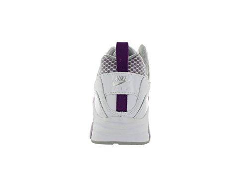 Nike Wmns Air Max Trax, Chaussures de Sport Femme Blanc Cassé - Blanco (White / Brght Grp-Mtllc Slvr-Brg)