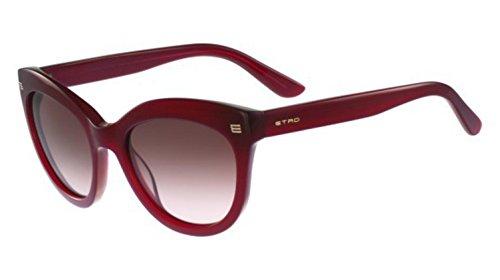 Etro et610s 603 54 occhiali da sole donna, rosso (bordeaux),