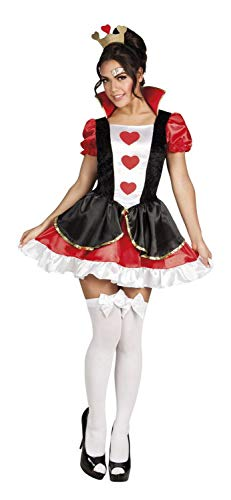 Herzen Kostüm Kragen Der Königin - Boland 83857 Erwachsenenkostüm Queen of hearts, Damen, Rot/Weiß, M