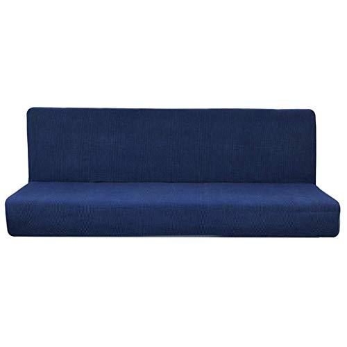 KongEU Funda de sofá de Color Puro para sofá/Cama sin Brazos, elástico...