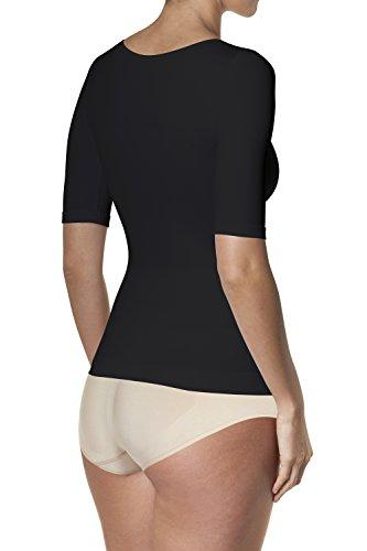 Sleex Figurformendes Damen T-Shirt Schwarz (Black)