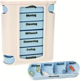 4 Stück Pillendosen Medikamentendosierer Pillenbox Tablettendose Tablettenbox Wochendispenser für Pillen 7 Tage von M&H-24