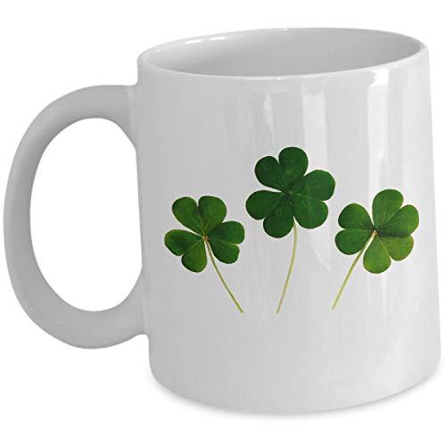 Shamrock Green Clover Leaf Coffee Cup St Patty's Day Gift - St Patrick's Day - 11oz Ceramic Coffee Mug -