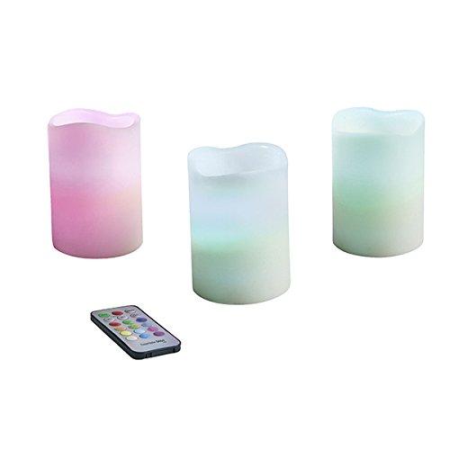 Set 3velas vela LED, multicolor
