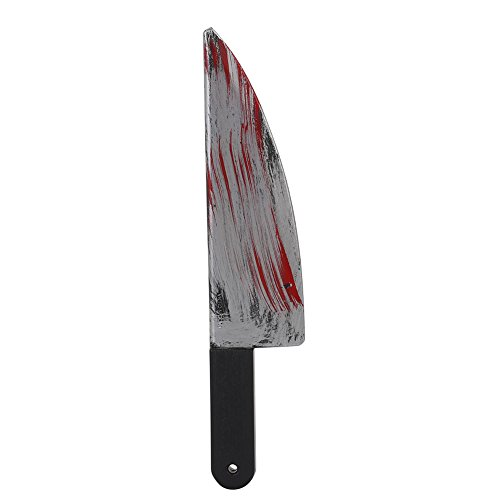 attachmenttou Halloween Party Prop Weapons Plastic Bloody Fancy Knife Cleaver Sickle Dress Costume Access