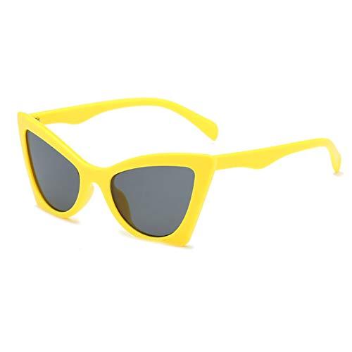WZYMNTYJ Brille Cat Eye Sommer Sonnenbrille Frauen Schwarz Rot Klar Retro Sonnenbrille Männer Weiblich Dame Sonnenbrille